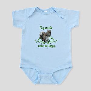 Squirrels Make Me Happy Infant Bodysuit