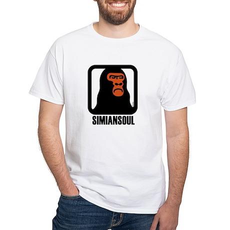 SimianSoul.Rebel. White T-Shirt