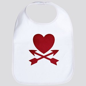 Red Heart and Arrows Bib
