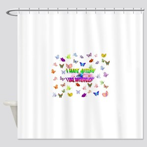 I have autism like butterflies Shower Curtain