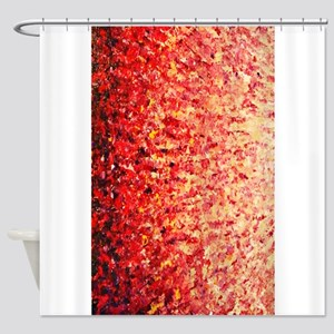 HypnoticSunrise rug Shower Curtain