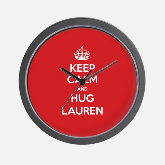 Hug Lauren Wall Clock