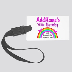 75TH RAINBOW Large Luggage Tag