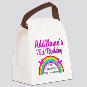75TH RAINBOW Canvas Lunch Bag