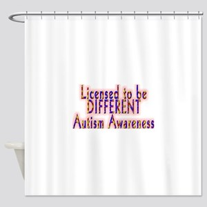 licensed to be different autism Shower Curtain