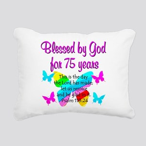 75 YR OLD ANGEL Rectangular Canvas Pillow