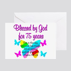 Happy 75th Birthday Greeting Cards Cafepress
