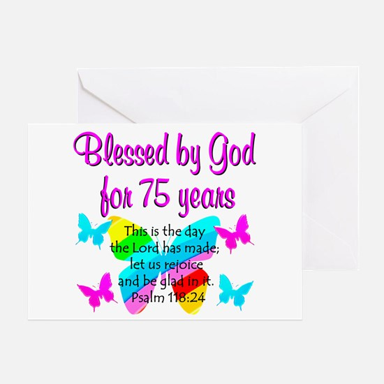 75 YR OLD ANGEL Greeting Card