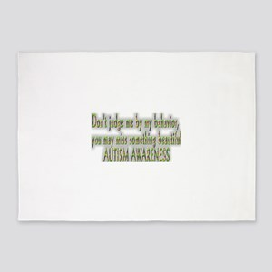 Dont judge me by my behavior 5'x7'Area Rug