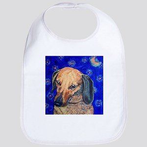 Starry night dachshund Bib