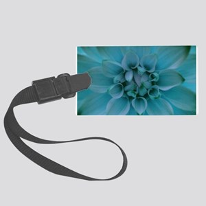 Dahlia in Turquoise Luggage Tag