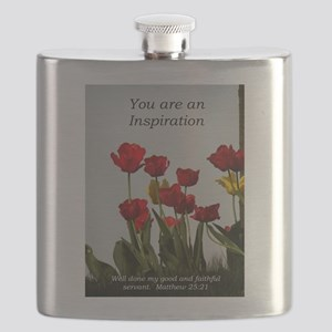 You're an Inpiration -tulips Flask