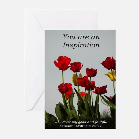 You're an Inpiration -tu Greeting Cards (Pk of 20)