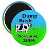 Dump Bush Moo Cow Magnet