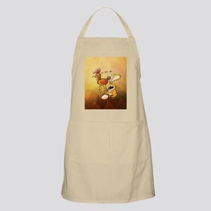 Easter Bunny Stealing an Egg from a Hen Apron
