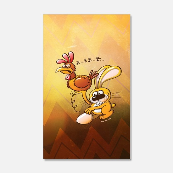 Easter Bunny Stealing an Egg from Wall Decal