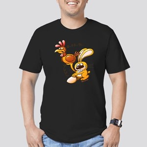 Easter Bunny Stealing  Men's Fitted T-Shirt (dark)