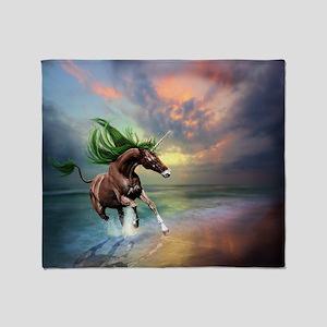 Unicorn Stallion Throw Blanket