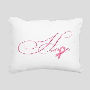 Hope - Pink Ribbon Breas Rectangular Canvas Pillow