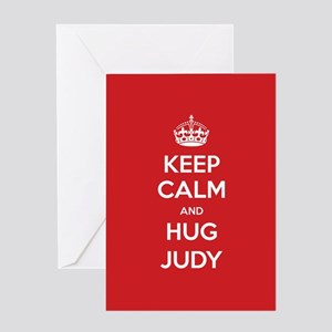 Hug Judy Greeting Cards