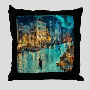 Venice Painting Throw Pillow