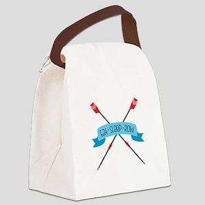 Eat Sleep Row Canvas Lunch Bag