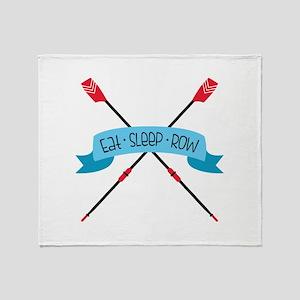 Eat Sleep Row Throw Blanket