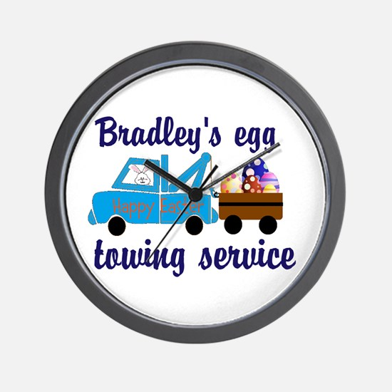 Easter Egg Towing Wall Clock