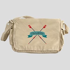 Crawl Walk Row Messenger Bag