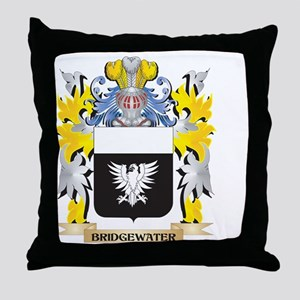 Bridgewater Coat of Arms - Family Cre Throw Pillow