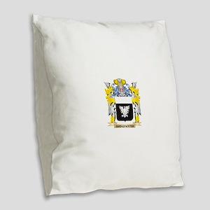 Bridgewater Coat of Arms - Fam Burlap Throw Pillow