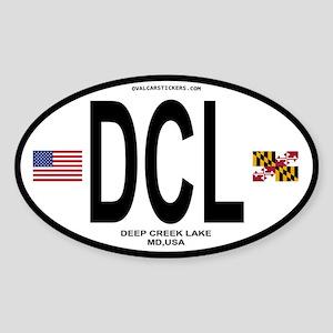 Deep Creek Lake Euro Oval Oval Sticker