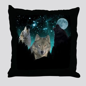 Wolves Twilight Throw Pillow