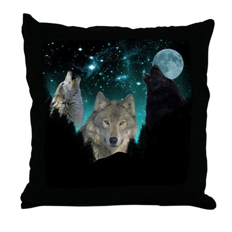 Wolves Twilight Throw Pillow
