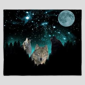 Wolves Twilight King Duvet