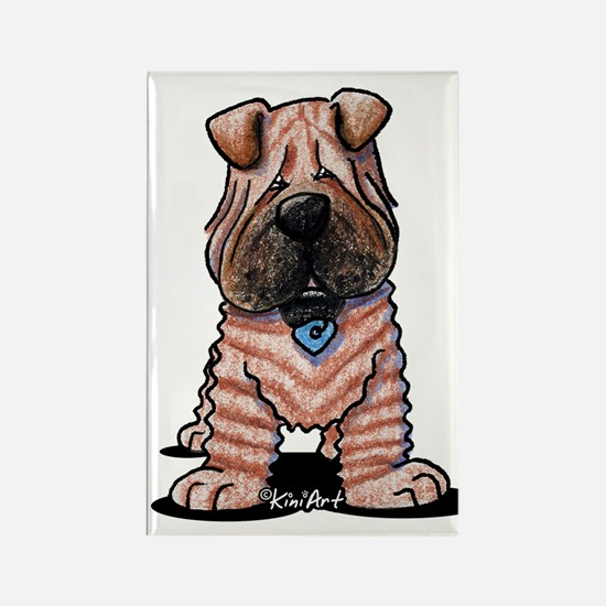 Shar Pei Caricature Rectangle Magnet