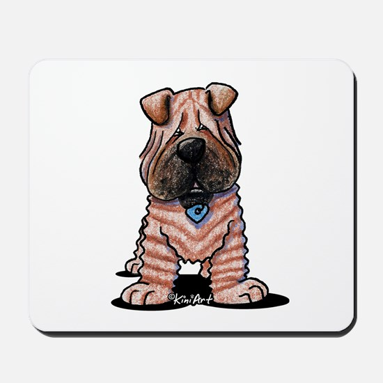 Shar Pei Caricature Mousepad