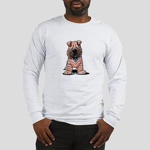 Shar Pei Caricature Long Sleeve T-Shirt
