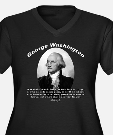 George Washington 01 Women's Plus Size V-Neck Dark