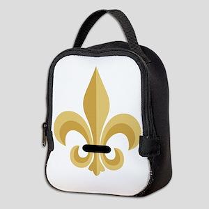 Fleur De Lis Neoprene Lunch Bag