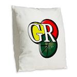 Gr Logo Burlap Throw Pillow