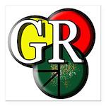 GR logo Square Car Magnet 3