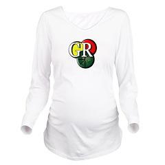 GR logo Long Sleeve Maternity T-Shirt