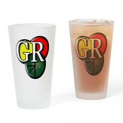 GR logo Drinking Glass