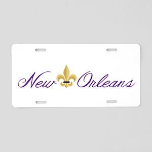 New Orleans Aluminum License Plate