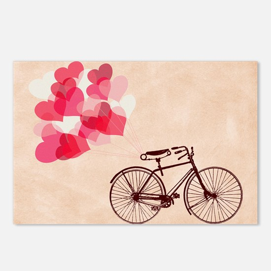 Heart-Shaped Balloons and Bicycle Postcards (Packa