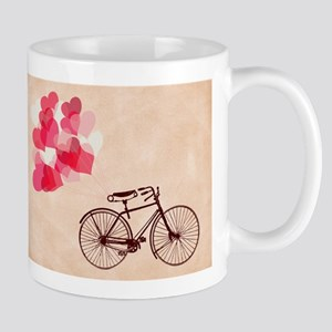Heart-Shaped Balloons and Bicycle Mugs