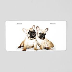 French Bulldogs Aluminum License Plate