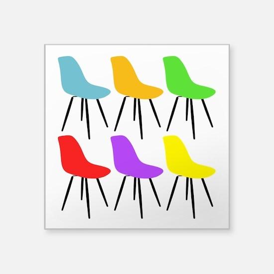 Mid Century Modern Chairs Sticker
