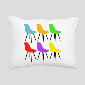 Mid Century Modern Chairs Rectangular Canvas Pillo